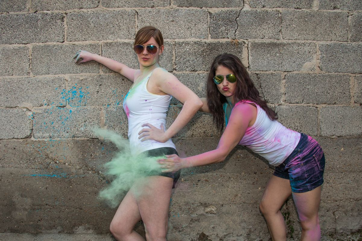 people bestfriends holi moni ela 0294 comp - Ela & Moni Holi-shooting